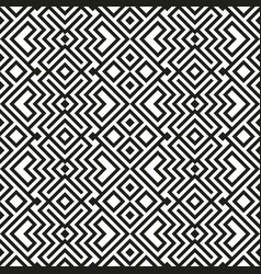 Ethnic seamless pattern with geometric ornaments vector