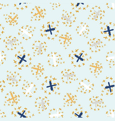 festive golden confetti crosses seamless vector image