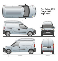 Fiat doblo maxi combi lwb high roof 2015 vector