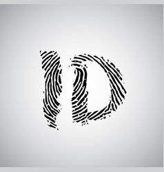 fingerprint with id vector image