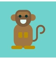 Flat icon stylish background cartoon monkey vector