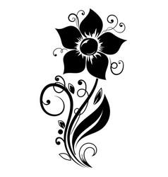 flower design decorative element vector image