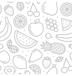 Fruits seamless pattern grey vector