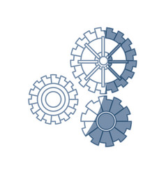 gear work mechanical cooperation image vector image
