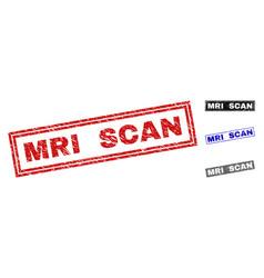 Grunge mri scan textured rectangle watermarks vector