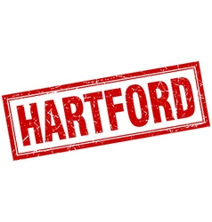 Hartford red square grunge stamp on white vector