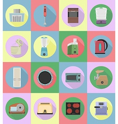 Household appliances for kitchen 20 vector