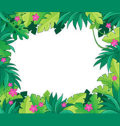 Image with jungle theme 1 vector