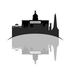isolated cityscape of washington city vector image