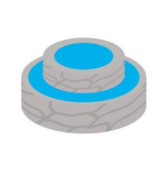 Isometric water source design vector