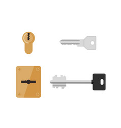 Keys and keyholes vector