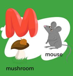 Letter m child s alphabet graphics vector