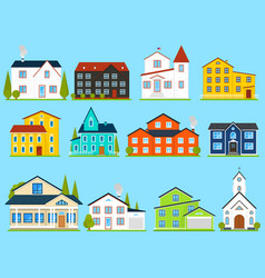 little cute house or apartments family american vector image