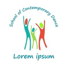 logo a school contemporary dance flat vector image