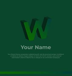 Logotype alphabet 3d logo letter w monogram logo vector