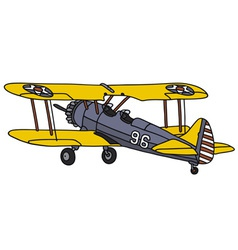 Old american biplane vector