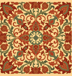 Oriental pattern with pomegranate vector