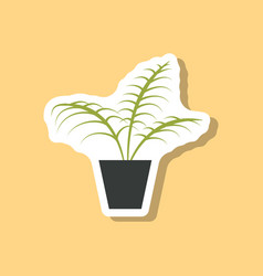 Paper sticker on stylish background ficus vector
