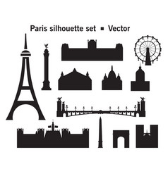 paris skyline silhouette 9 vector image