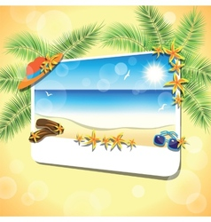 Picture of the sand beach landscape vector image