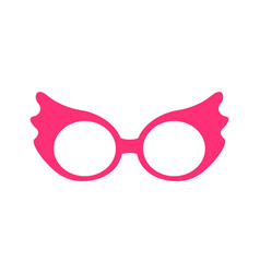 Princess party pink glasses vector