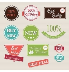 Quality retro badges collection vector image