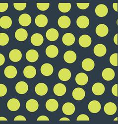 Random placed polka dots lime on dark blue pattern vector