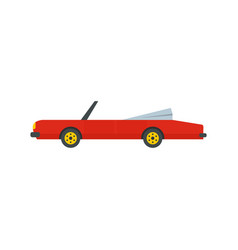 Rap american car icon flat style vector