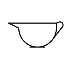 saucer icon vector image