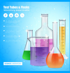 Science laboratory design concept vector