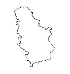 Serbia map of black contour curves of vector