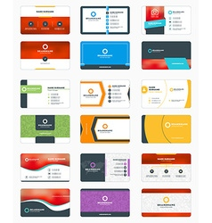 Set of modern business card print templates vector image