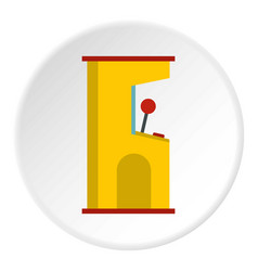 Slot machine icon circle vector