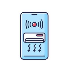Smart air conditioner rgb color icon vector