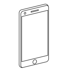 smart phone isometric icon vector image