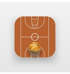 Square icon of basketball sport vector