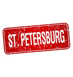 St Petersburg red stamp isolated on white vector