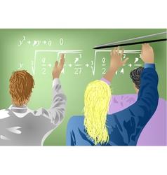students in school vector image