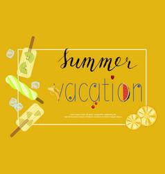 Summer menu banner vector