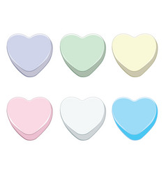 Sweet candy hearts vector