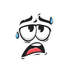 Thick and tired emoticon face with drops sweat vector