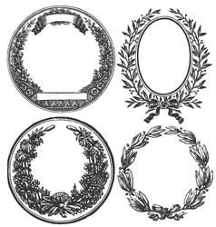 VINTAGE FLORAL DECORATIVE DESIGN ELEMENTS vector image