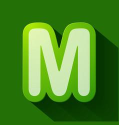 Volume icons alphabet m vector