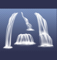 waterfall water flow cascade vector image