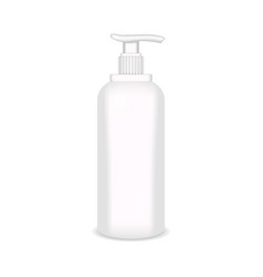 white glossy plastic bottle for shampoo shower vector image