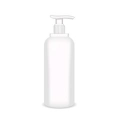white glossy plastic bottle for shampoo shower vector image