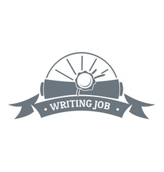 writing job logo vintage style vector image