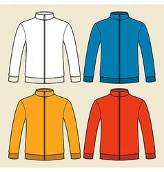 Colorful sweatshirts template vector image vector image
