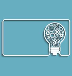 light bulb gears vector image