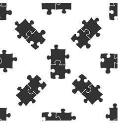 piece of puzzle icon seamless pattern vector image vector image